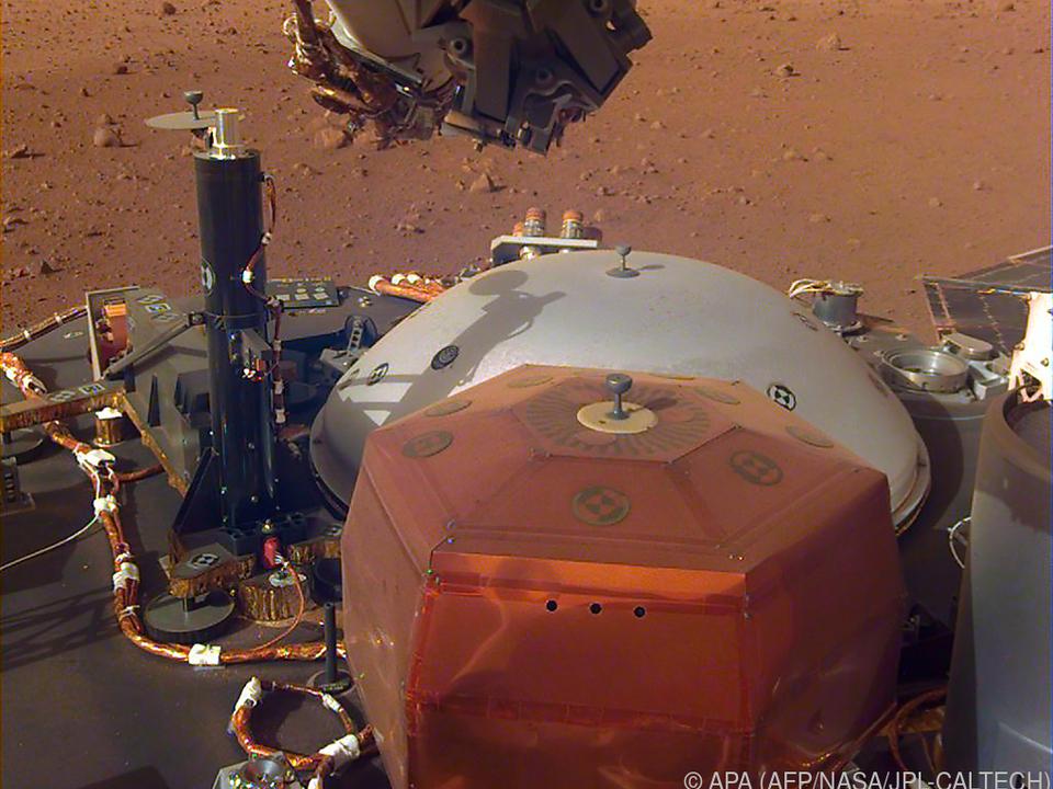 Aufzeichnugen der Mars-Sonde InSight