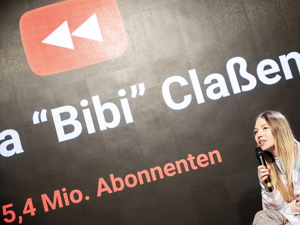 Bianca \'Bibi\' Claßen beim YouTube-Jahresrückblick in Berlin