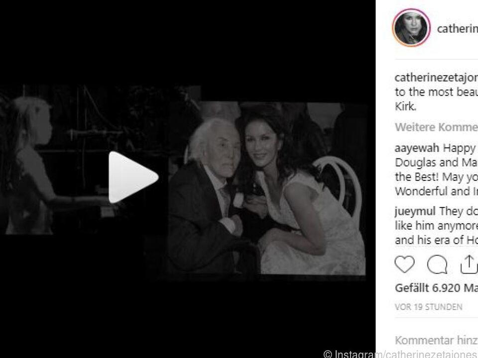 Catherine Zeta-Jones postete ein Video auf Instagram