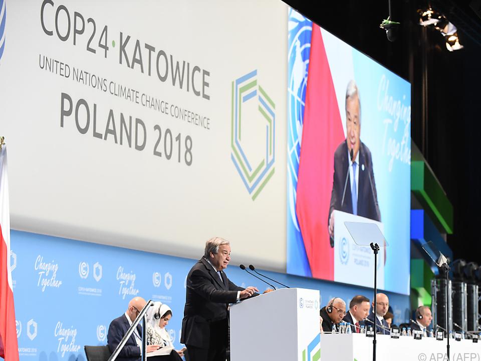 Die 24. UNO-Klimakonferenz (COP24) findet in Kattowitz statt