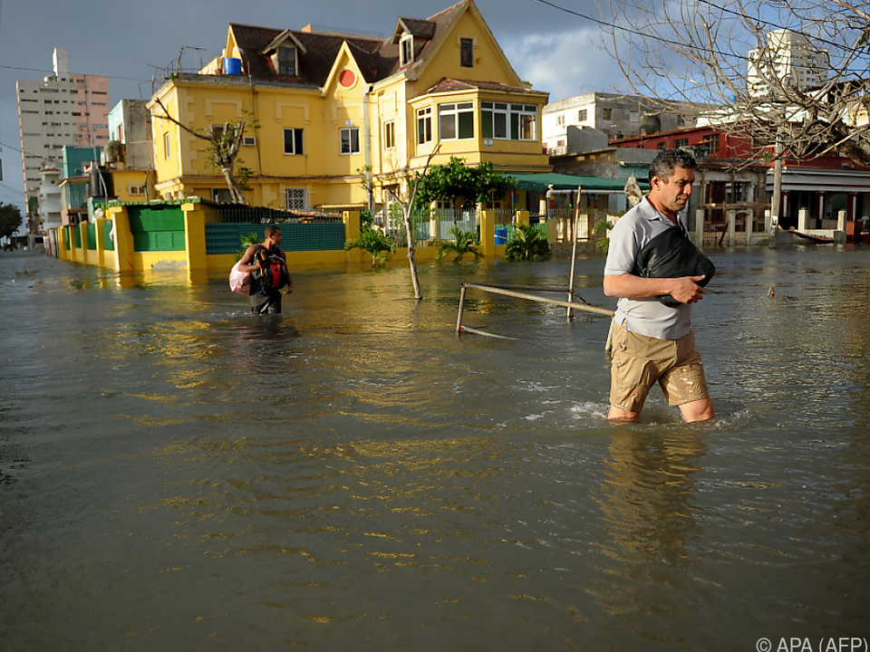 Die Hauptstadt Havanna ist derzeit überschwemmt