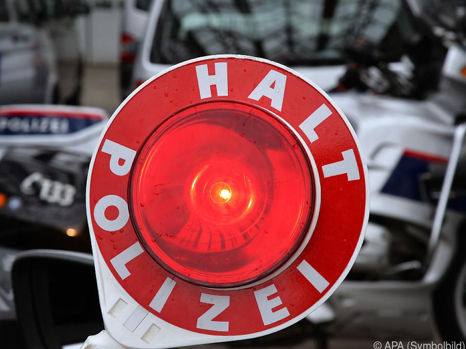 Die Polizei konnte den Autolenker erst nach 70 Kilometern stoppen