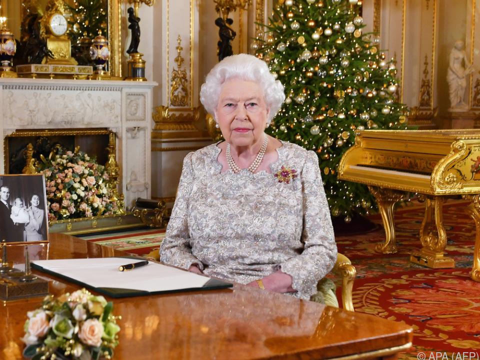 Die Weihnachtsrede der Queen wurde im TV ausgestrahlt