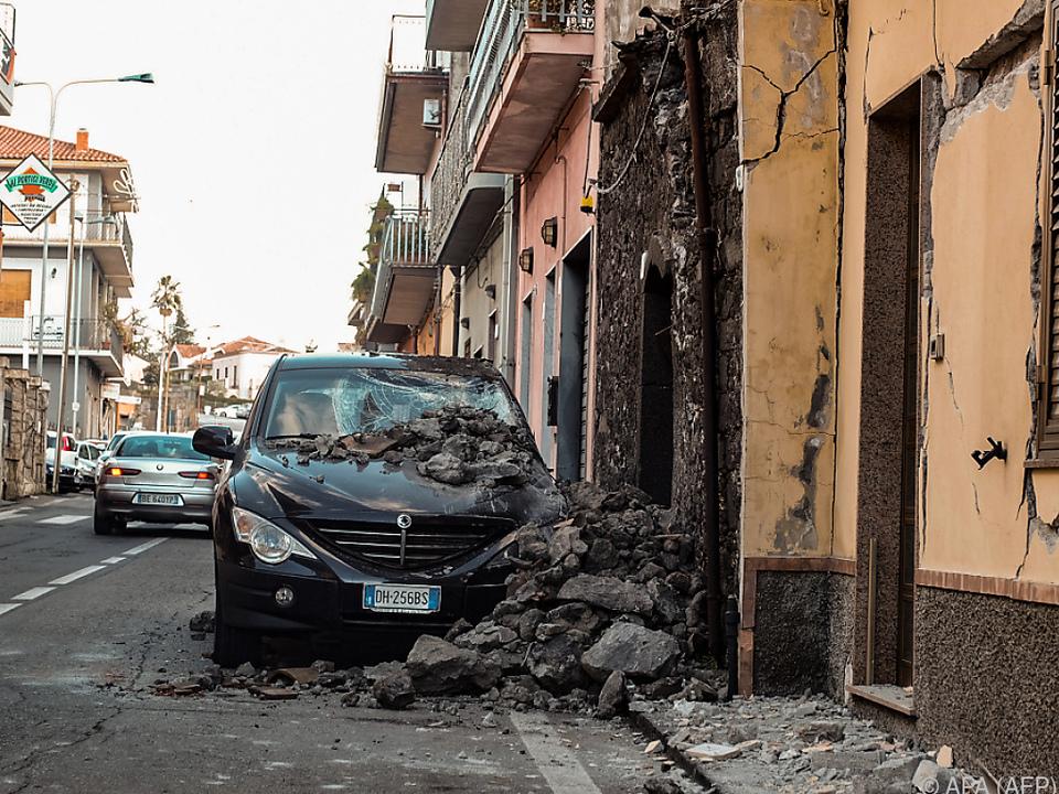 Ein Beben hatte am Mittwoch die Region um Catania erschüttert
