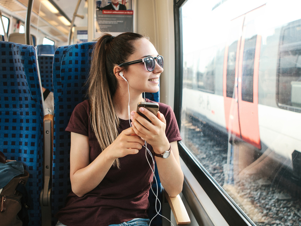 zug gleise sad reisen handy sym eisenbahn