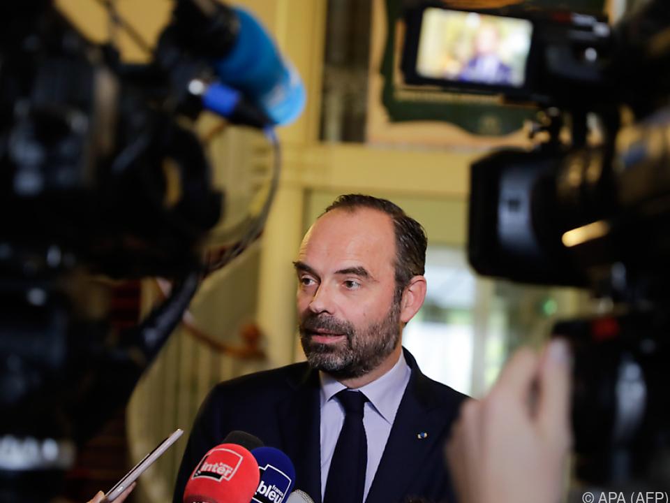 Frankreichs Premierminister Philippe forderte ein Ende der Proteste