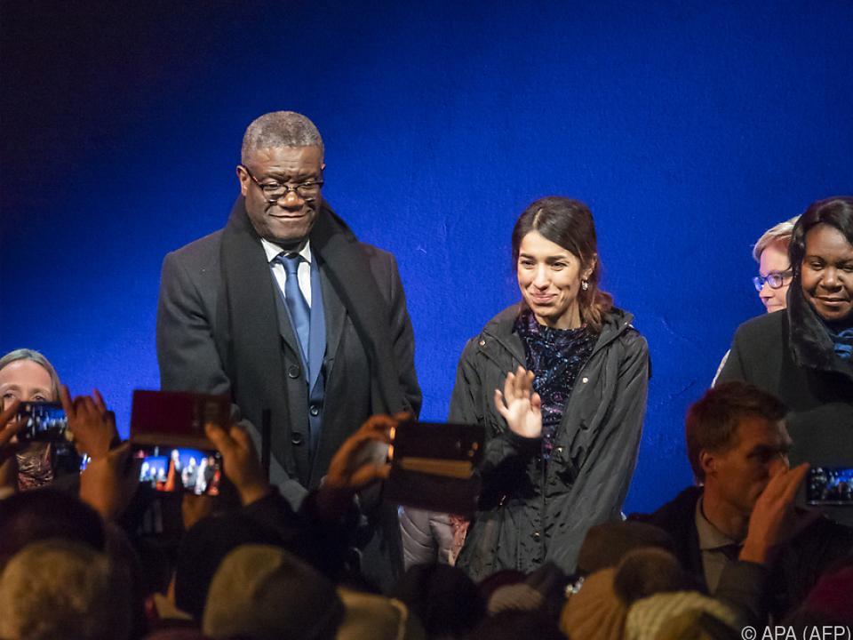 Friedensnobelpreisträger Mukwege und Murad in Oslo
