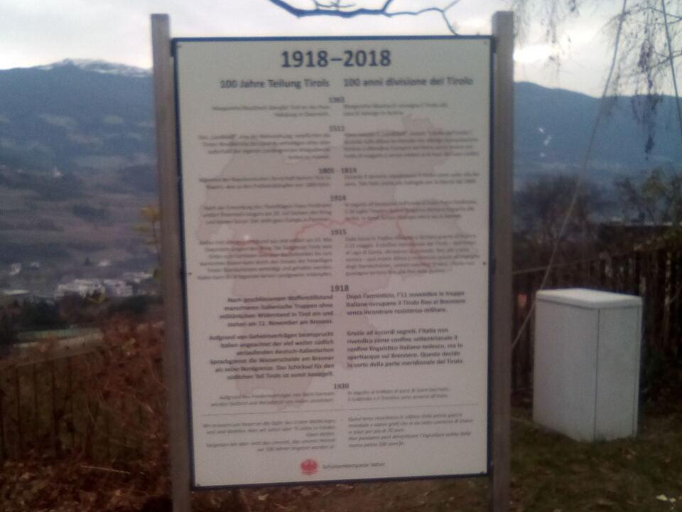 Gedenktafel, Erster Weltkrieg, Vahrn, Schützen
