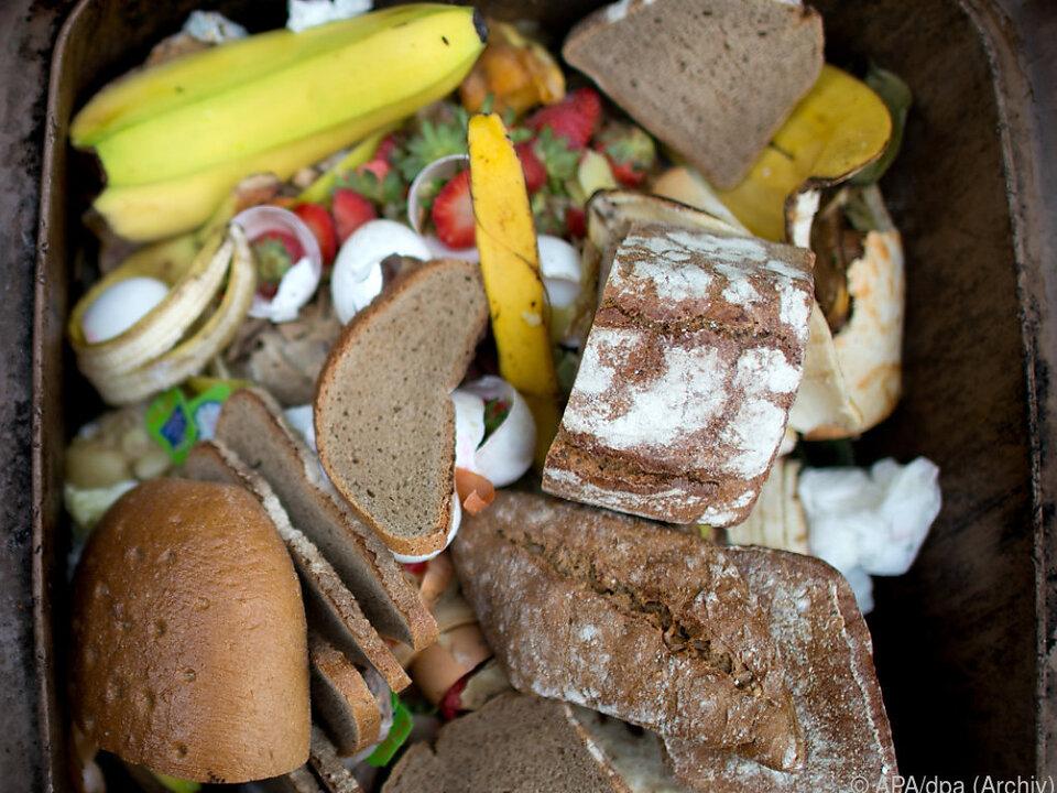 Jährlich landen viele Tonnen teils genießbarer Lebensmittel im Müll
