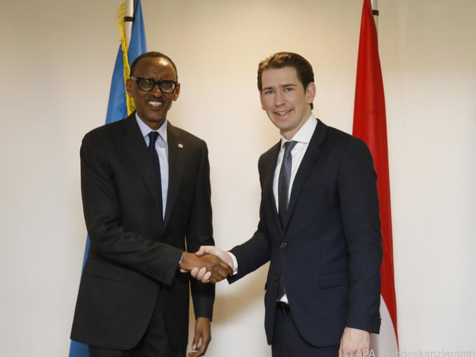 Kanzler Kurz traf auch Ruandas Präsident Paul Kagame