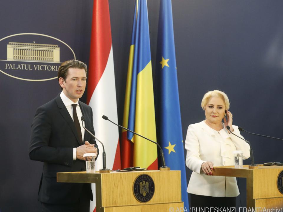 Kanzler Kurz übergab die Amtsgeschäfte des EU-Vorsitzes an Rumänien