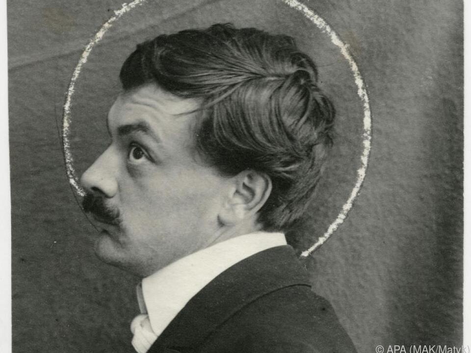 Koloman Moser auf Porträtfotografie (um 1903)