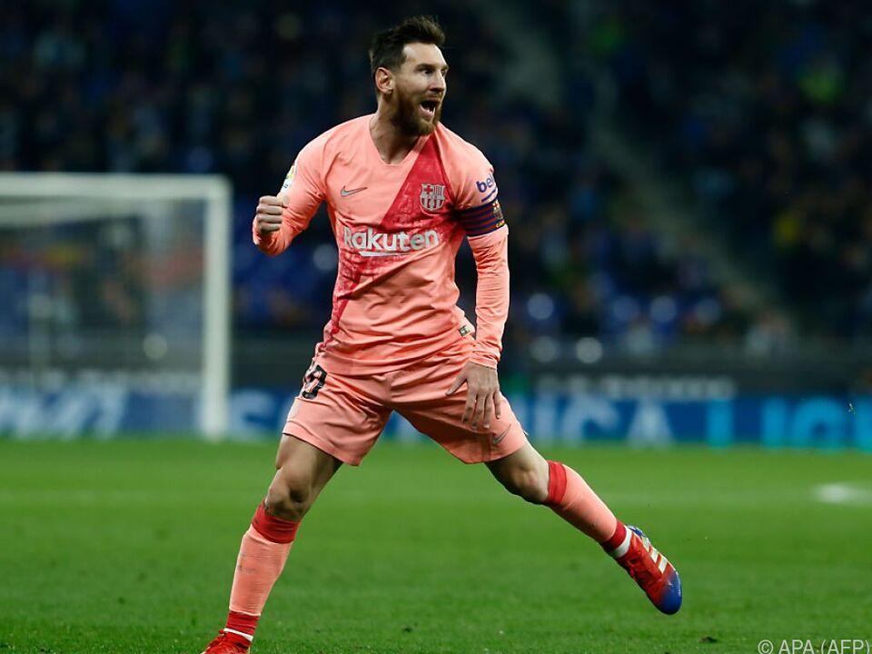 Lionel Messi wieder einmal Matchwinner für FC Barcelona