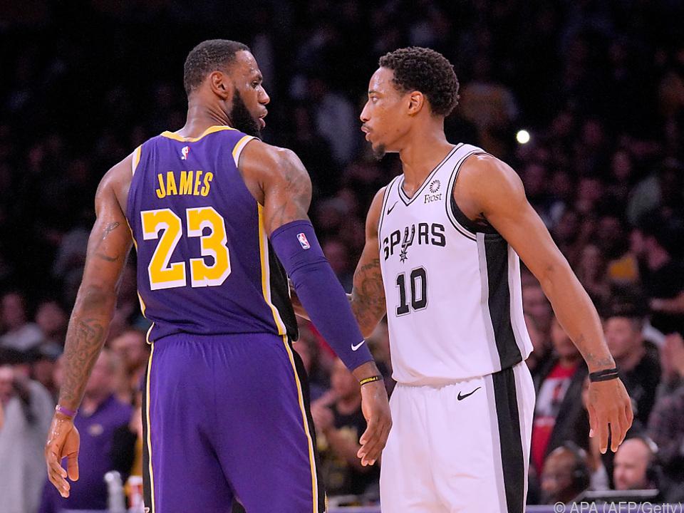 NBA-Superstars LeBron James und DeMar DeRozan
