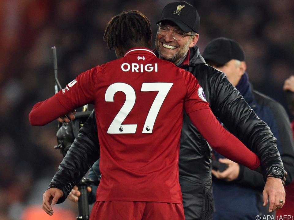 Origi wartete mit seinem Tor bis zur 96. Minute