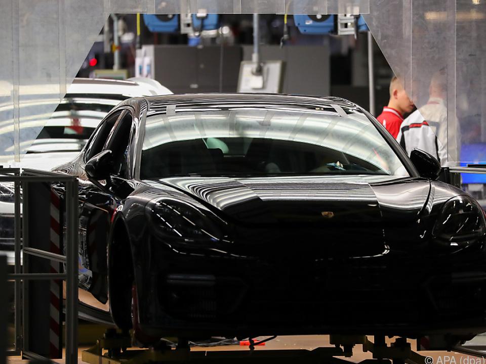 Porsche Panamera in Fabrik in Leipzig
