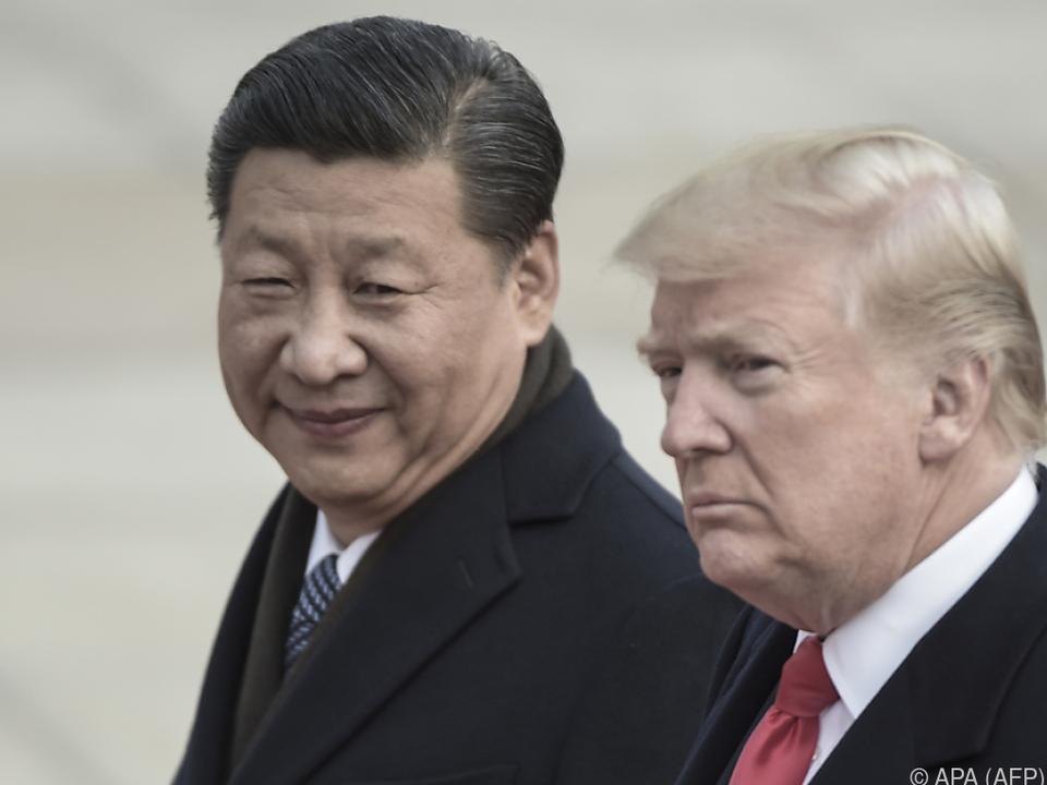 Präsidenten Xi Jinping und Donald Trump
