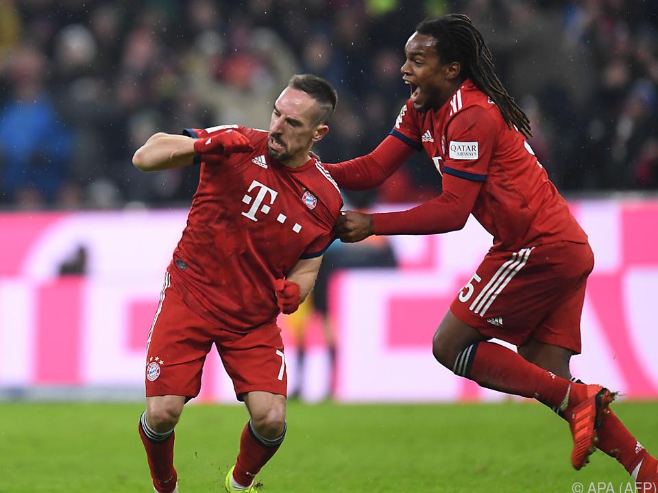 Ribery feierte seinen Treffer