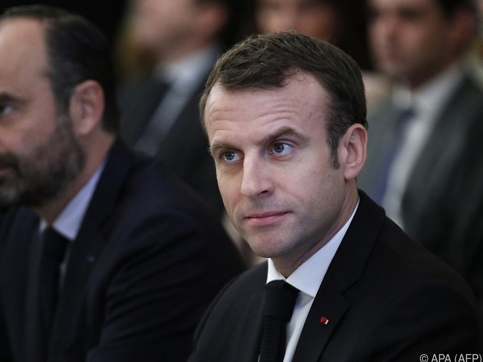 Schwere Zeiten für Emmanuel Macron