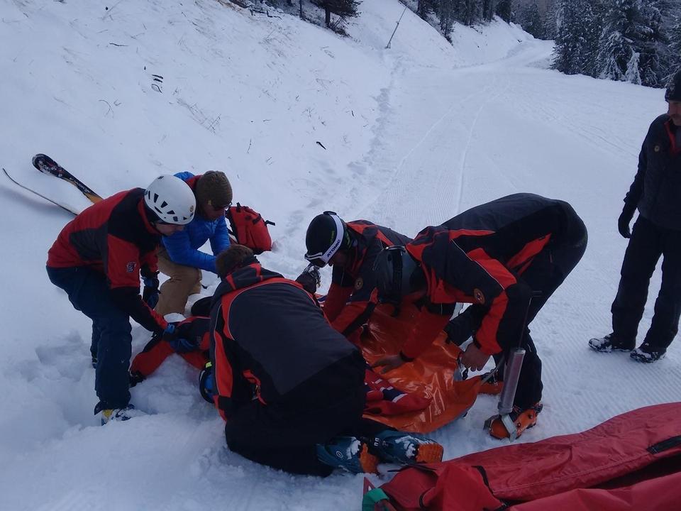 Südtiroler Bergrettung CNSAS Pistenrettung