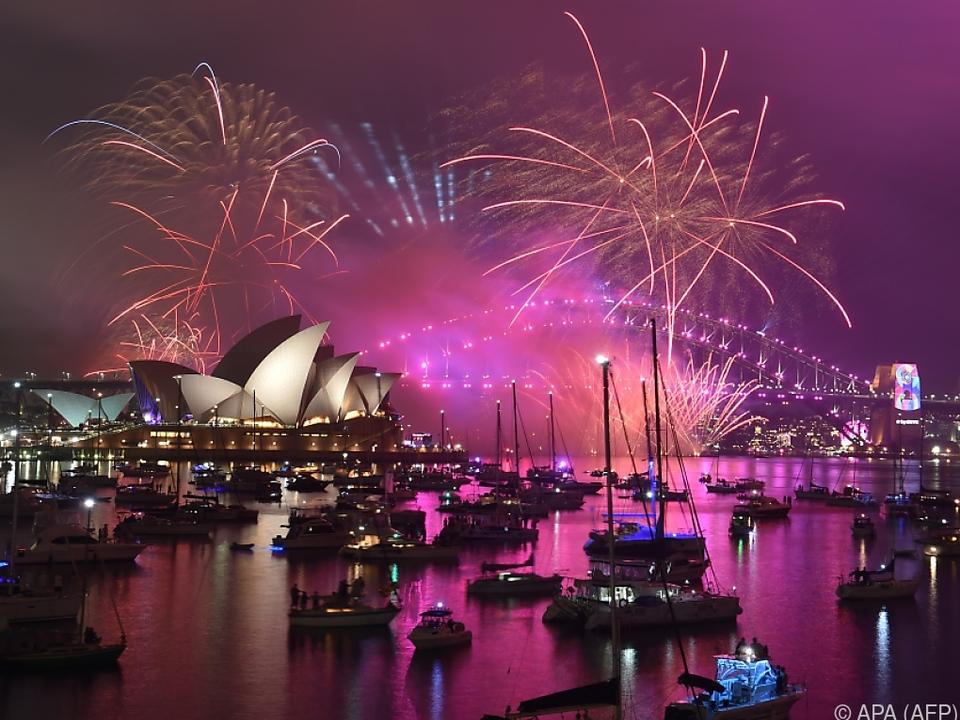 Sydney rutschte ins neue Jahr