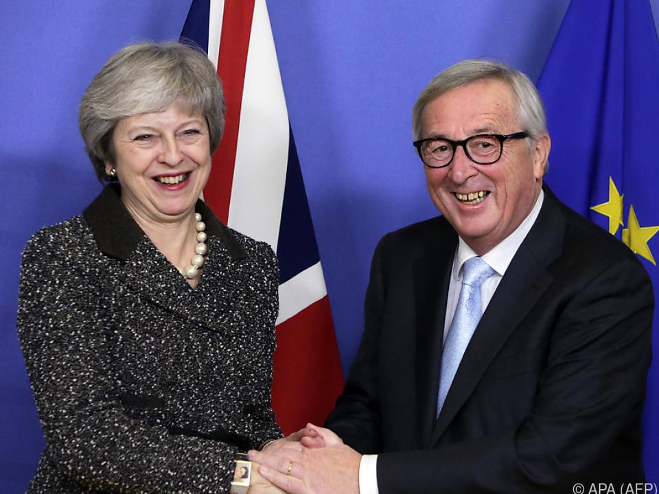 Theresa May traf in Brüssel EU-Kommissionspräsident Juncker