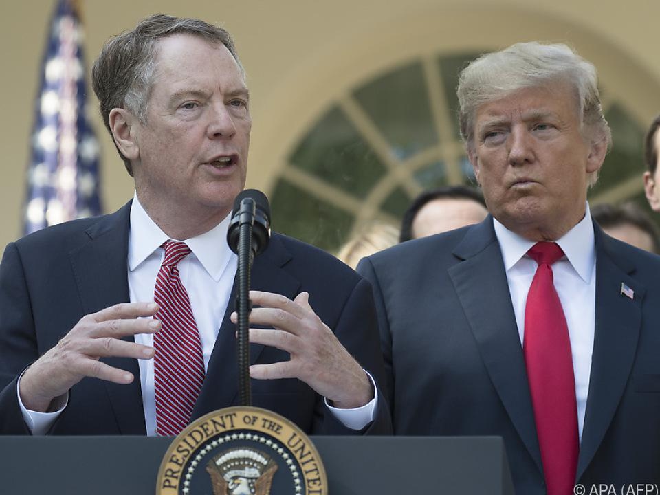 Trump beautragte Lighthizer mit den Gesprächen