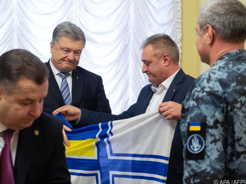 Ukrainischer Präsident Poroschenko traf Angehörige festgesetzter Matrosen