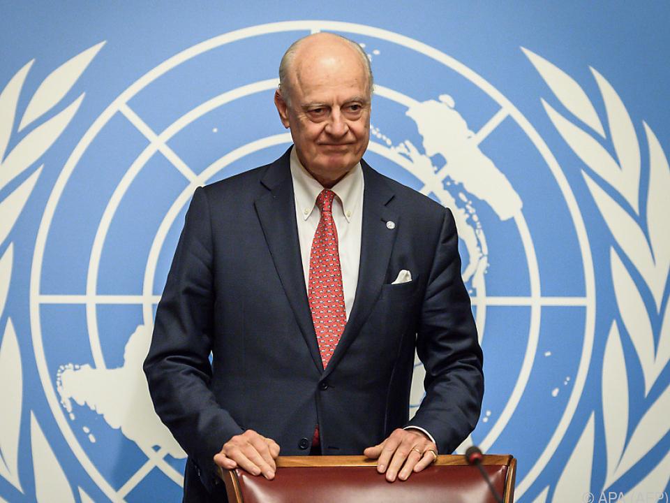 UN-Vermittler Staffan de Mistura