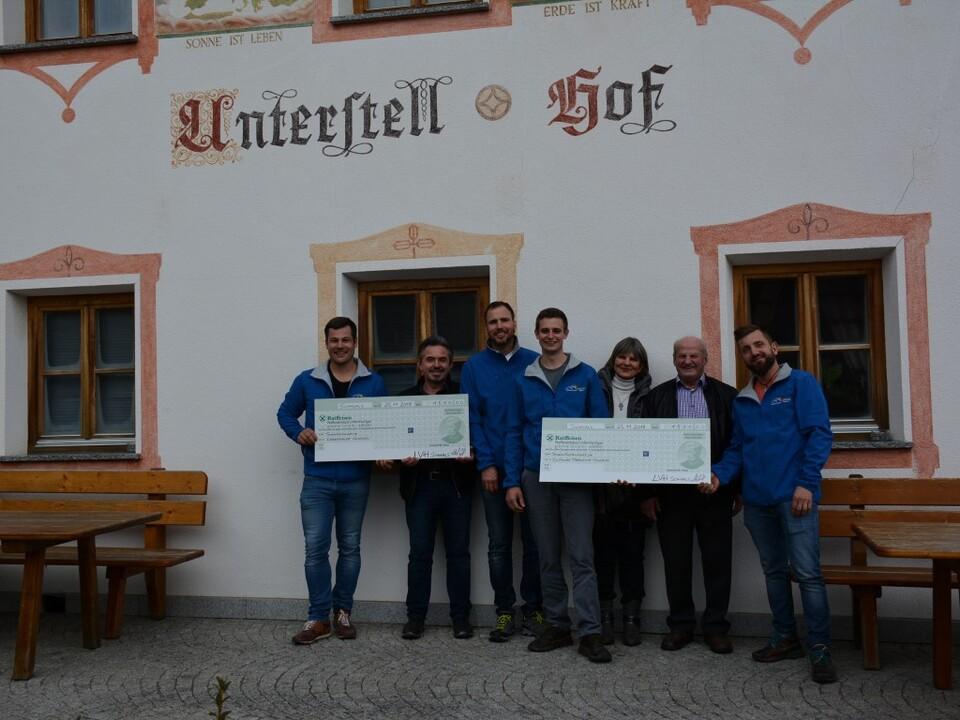 v.l.n.r. Michael Götsch, Konrad Götsch, Harald Rainer, Tobias Oberhofer, Helga Schöntaler, Robert Peer, Hannes Oberhofer