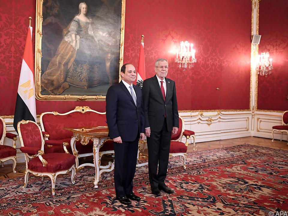 Van der Bellen erörterte mit Sisi Themen wie Nahost und Syrien