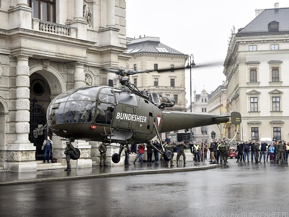 Alouette 3 Hubschrauber sind schon mehr als 50 Jahre alt
