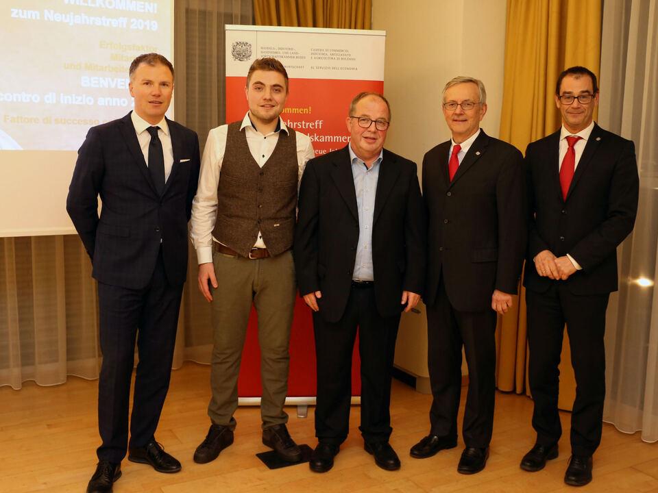Andreas Rogger, Thomas Profanter, Manfred Profanter, Michl Ebner, Alfred Aberer (c) hk