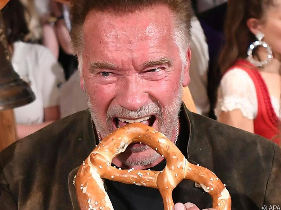 Arnie ließ keine Feier aus