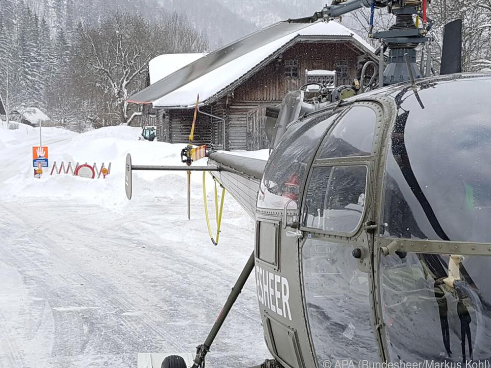 Auch das Bundesheer wird im Kampf gegen Schneemassen eingesetzt
