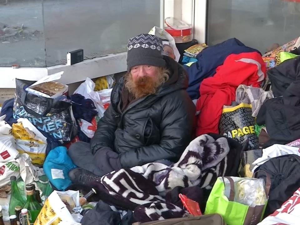 Bei eisiger Kälte: Obdachlose in München