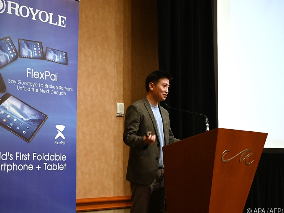 Bill Liu bei der Präsentation in Las Vegas