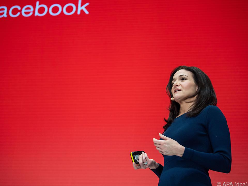 Dass Sandberg Facebook verteidigt, ist eh klar