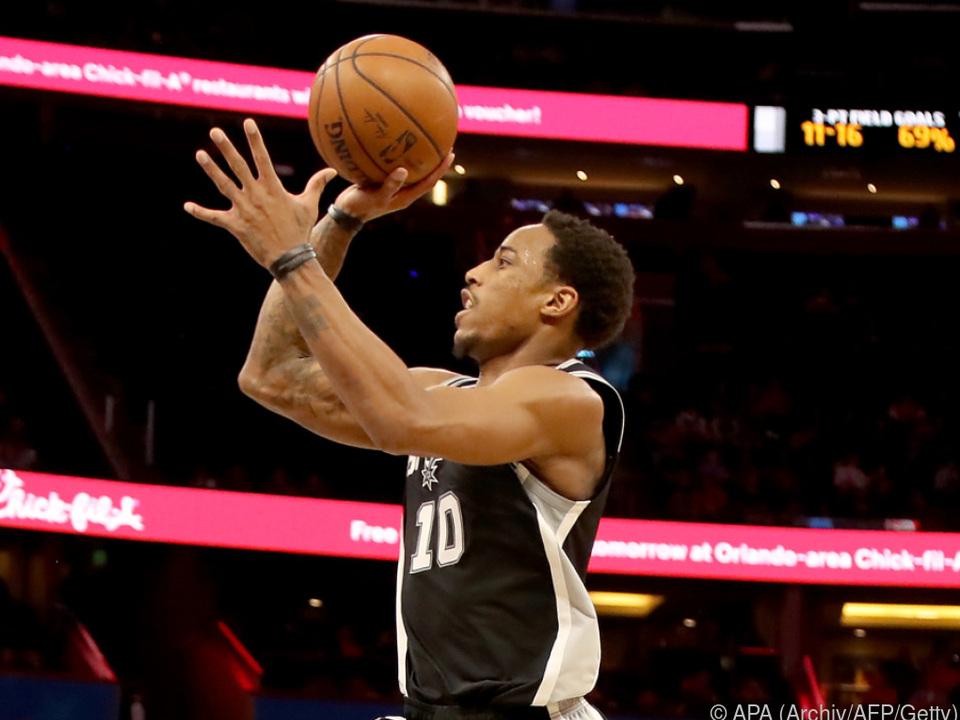DeMar DeRozan mit 26 Zählern Topscorer der Spurs