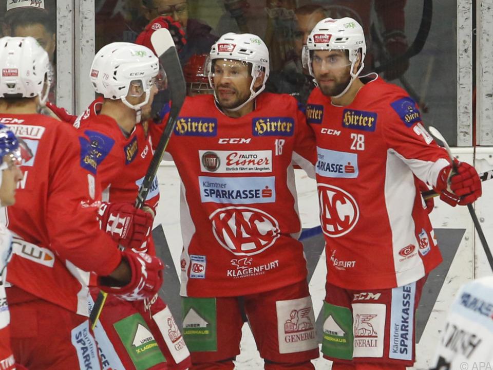 Der KAC feierte einen 12:0-Kantersieg gegen Zagreb