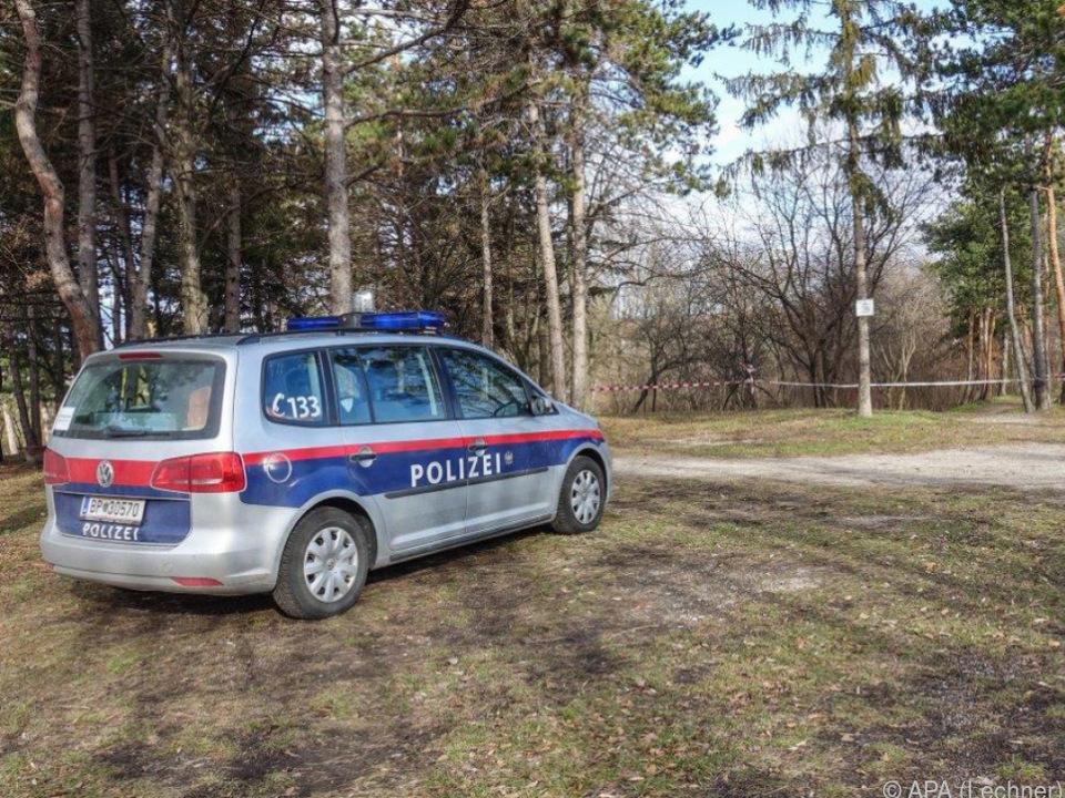 Der Tatort in einem Park in Wiener Neustadt