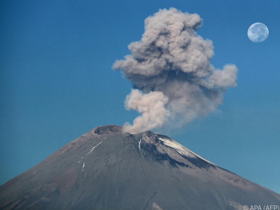 Der Vulkan ist immer wieder aktiv