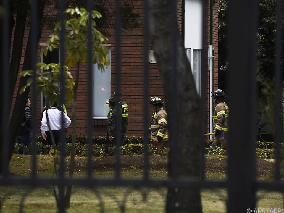 Die Bombe explodierte in einer Polizeischule