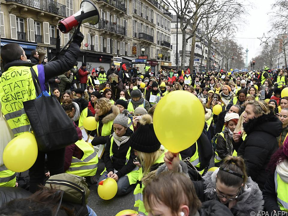 Die Demonstrationen in Frankreich dauern an