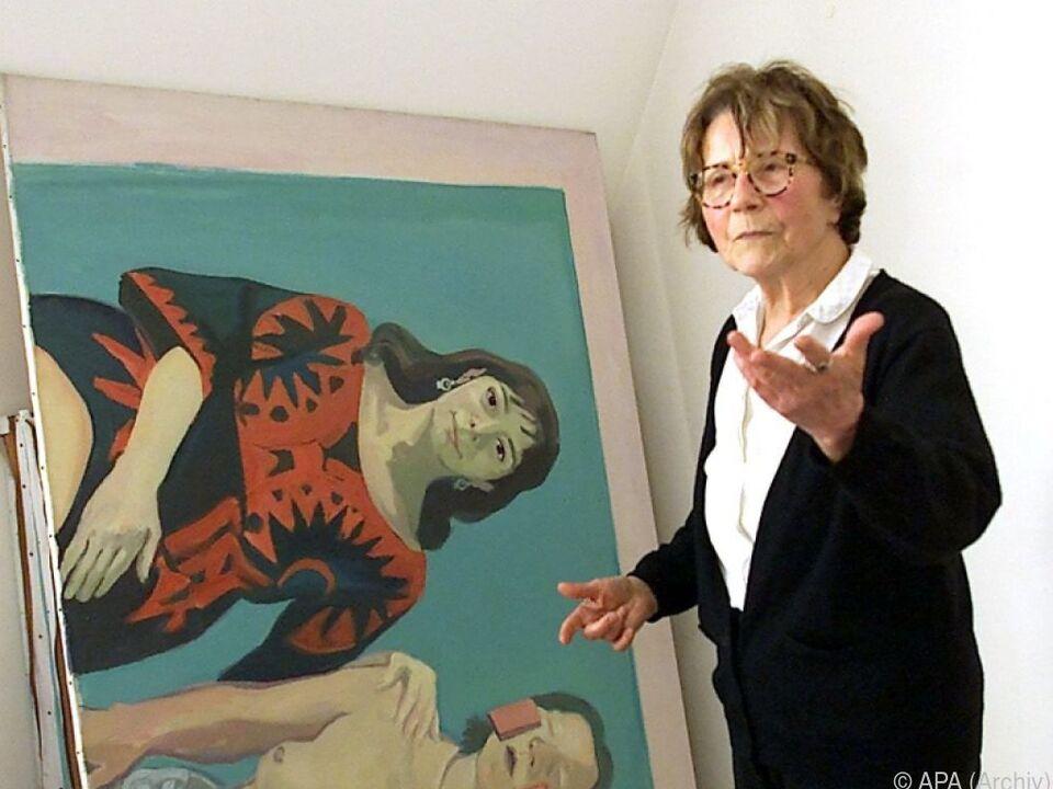 Die Künstlerin Maria Lassnig