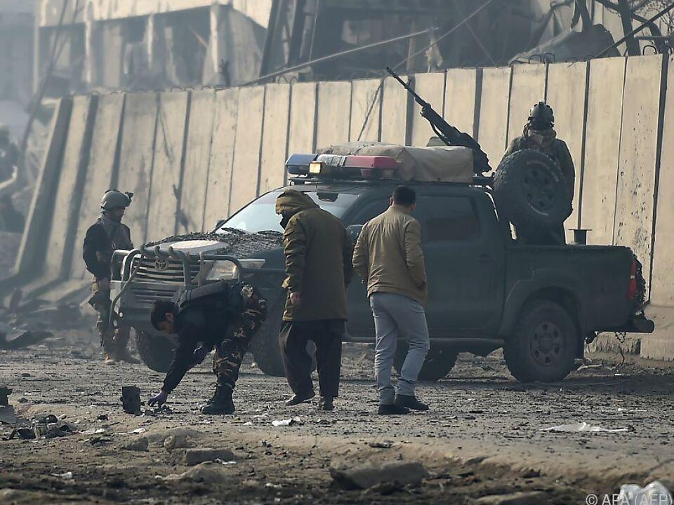 Ein Anschlag erschütterte Kabul am Montagabend