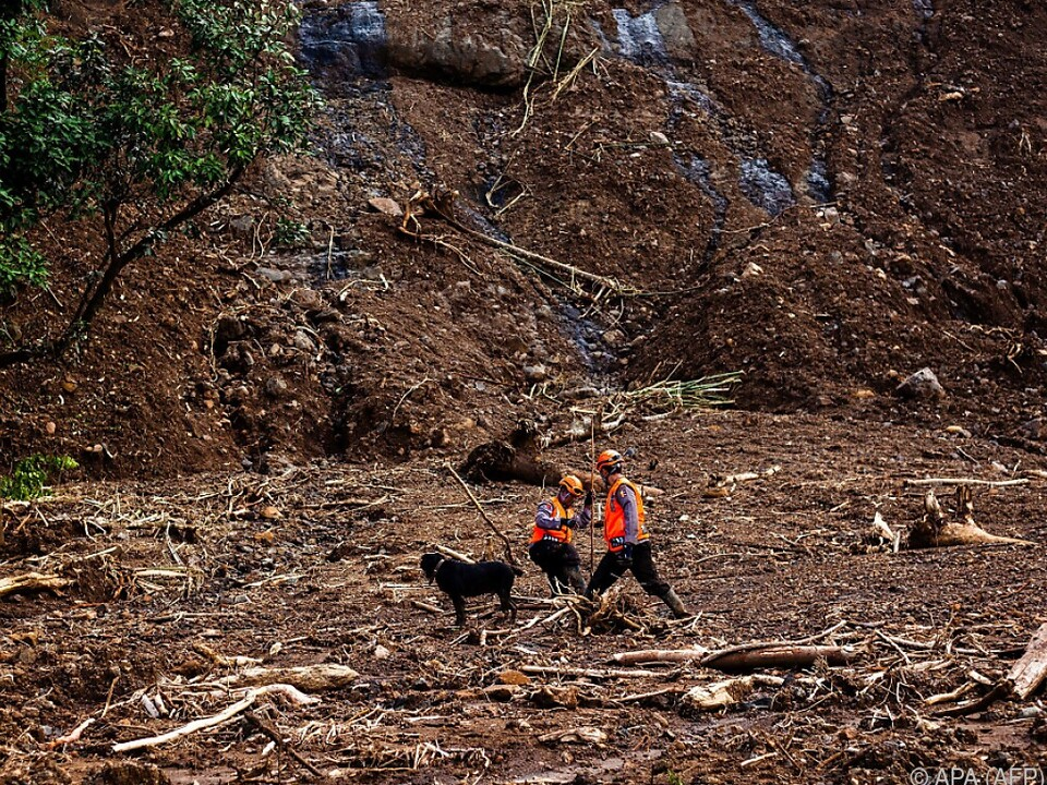 Ein Dorf im Bezirk Gowa war komplett vom Schlamm begraben