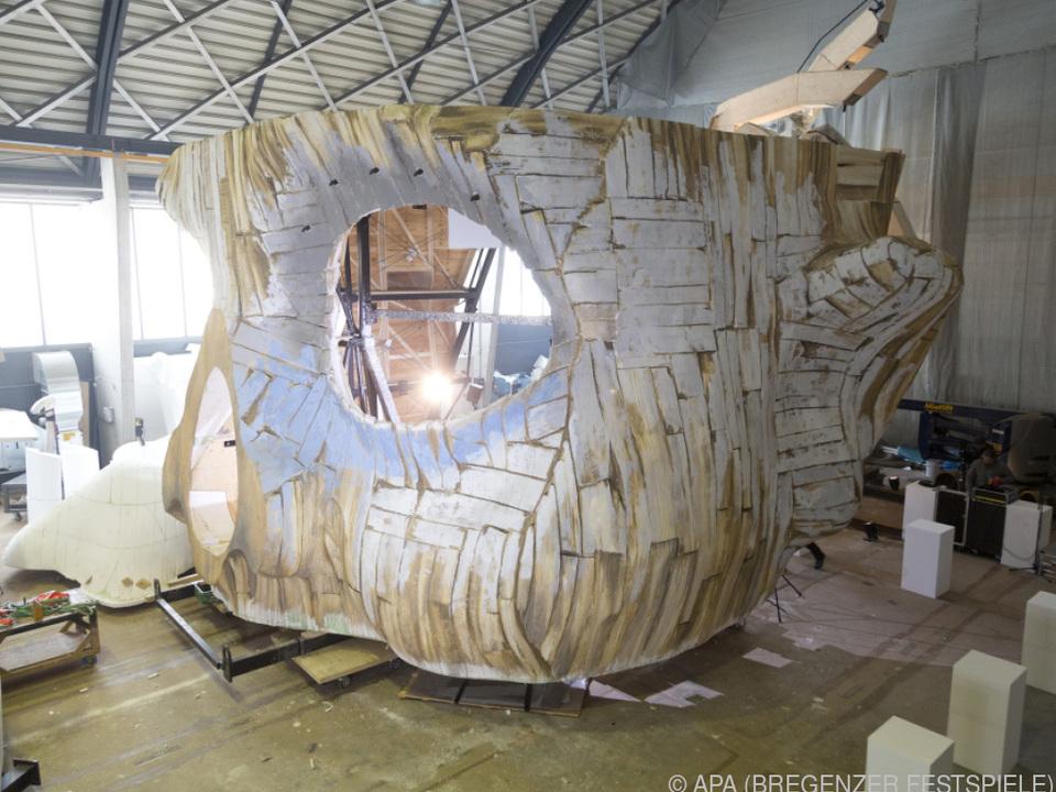 Einblicke in den Kulissenbau der Bregenzer Festspiele