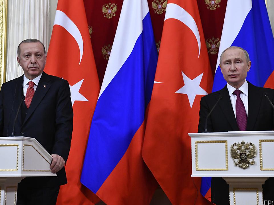Erdogan und Putin trafen einander in Moskau