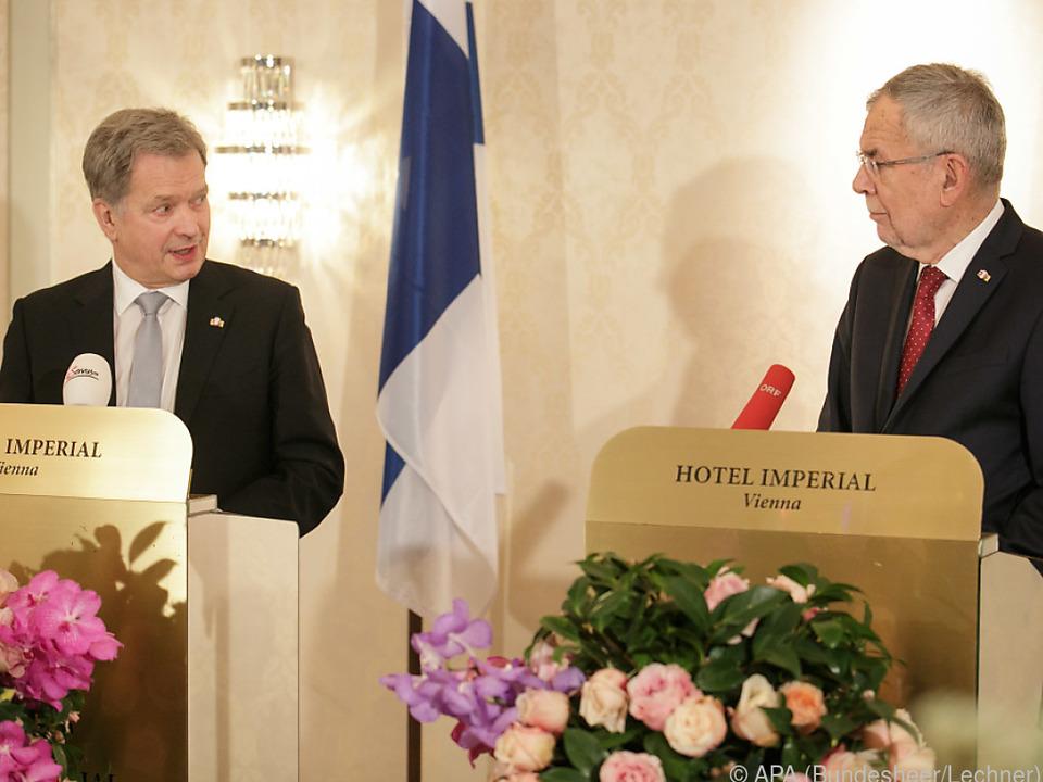 Finnlands Präsident Sauli Niinistö traf Bundespräsident Van der Bellen in Wien